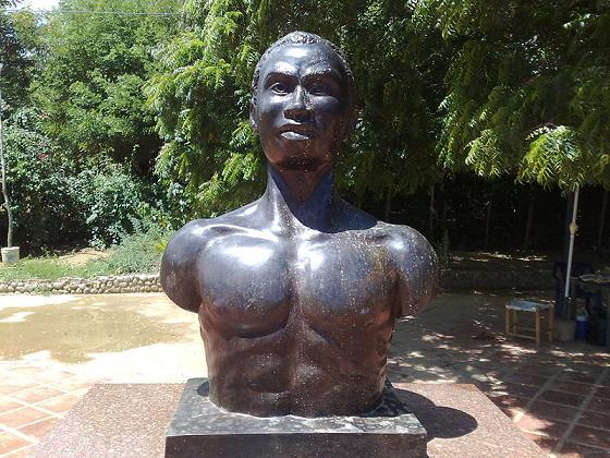 Buste du héros national, le rebelle José Leonardo Chirinos (1754-1796), Caujarao, État de Falcón, Venezuela.