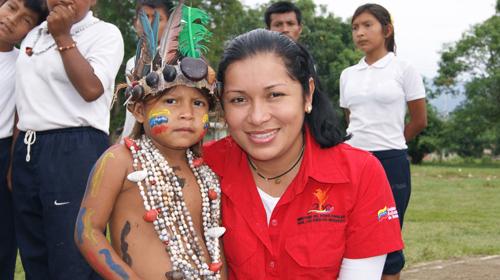 La Ministre des Peuples indigènes Aloha Nuñez