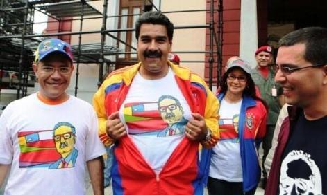 Le président Maduro lors de la marche de commémoration de l'Unité Populaire de Salvador Allende (Caracas, 11 septembre 2013)