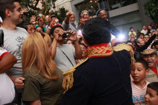 Entrée triomphale de Simón Bolívar (Caracas 6 août 2013)