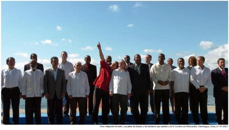 Sommet de Petrocaribe à Cienfuegos, Cuba, 2007.
