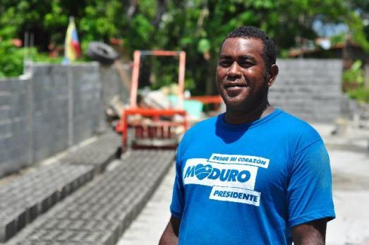 Argenis Quintana, porte-parole du Conseil Communal et travailleur de la briqueterie