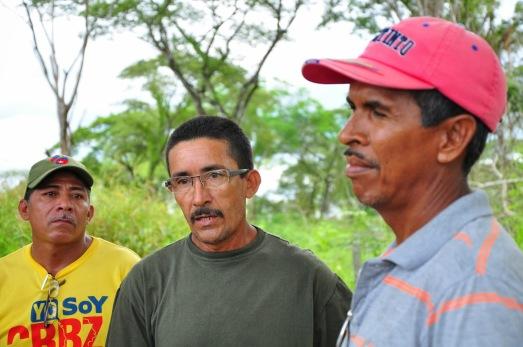 Les communards José, Ramón y Rodolfo.