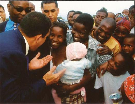 En visite officielle au Mozambique.