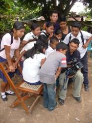 Tournage dans les montagnes de Matagalpa.