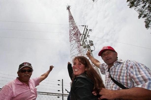 L'antenne de la base radio, enfin !