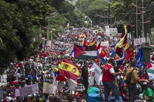 Manifestation de solidarité avec la Palestine, Caracas, 2 août 2014