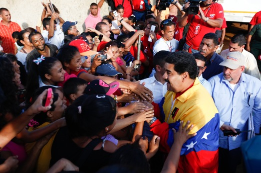 Nicolas Maduro dans l'État de Carabobo, le 5 septembre 2014.