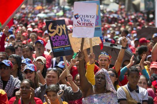 Manifestation pour célébrer les quinze ans de la Constitution Bolivariene, Caracas, 15 décembre 2014.