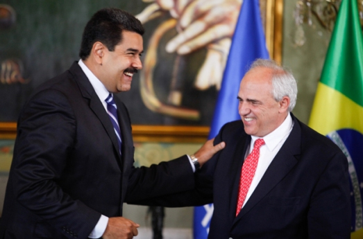 Réunion de Nicolas Maduro et Ernesto Samper (UNASUR), Caracas le 4 février 2015
