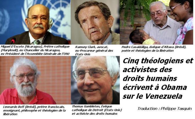 Cinq théologiens et activistes écrivent à Obama sur le Venezuela