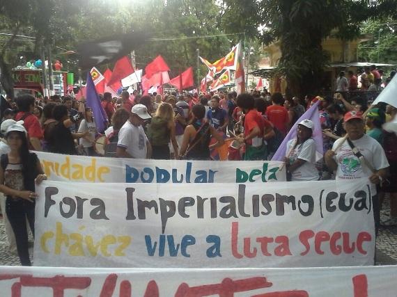 Marche de soutien au Vénézuéla á Brasilia