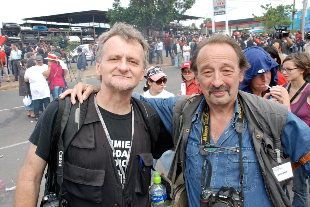 Maurice Lemoine au Honduras avec Giorgio Trucchi