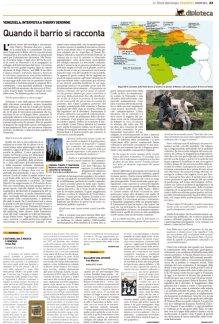 """ITW sur mon livre """"Commune, temps et télévision"""" par Géraldine Colotti, Monde Diplomatique Italie, mars 2016"""