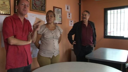 relancement de la télévision populaire Teletambores en présence d'Ignacio Ramonet (avril 2016)