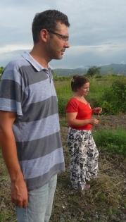 Caquetios, Etat de Lara (ouest du Venezuela). A gauche, Edson Marcos, coordinateur de la Brigada Apolonio