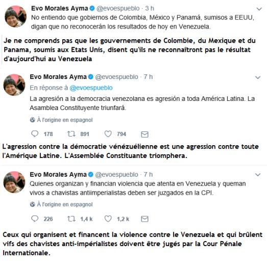 Evo Morales Tweets