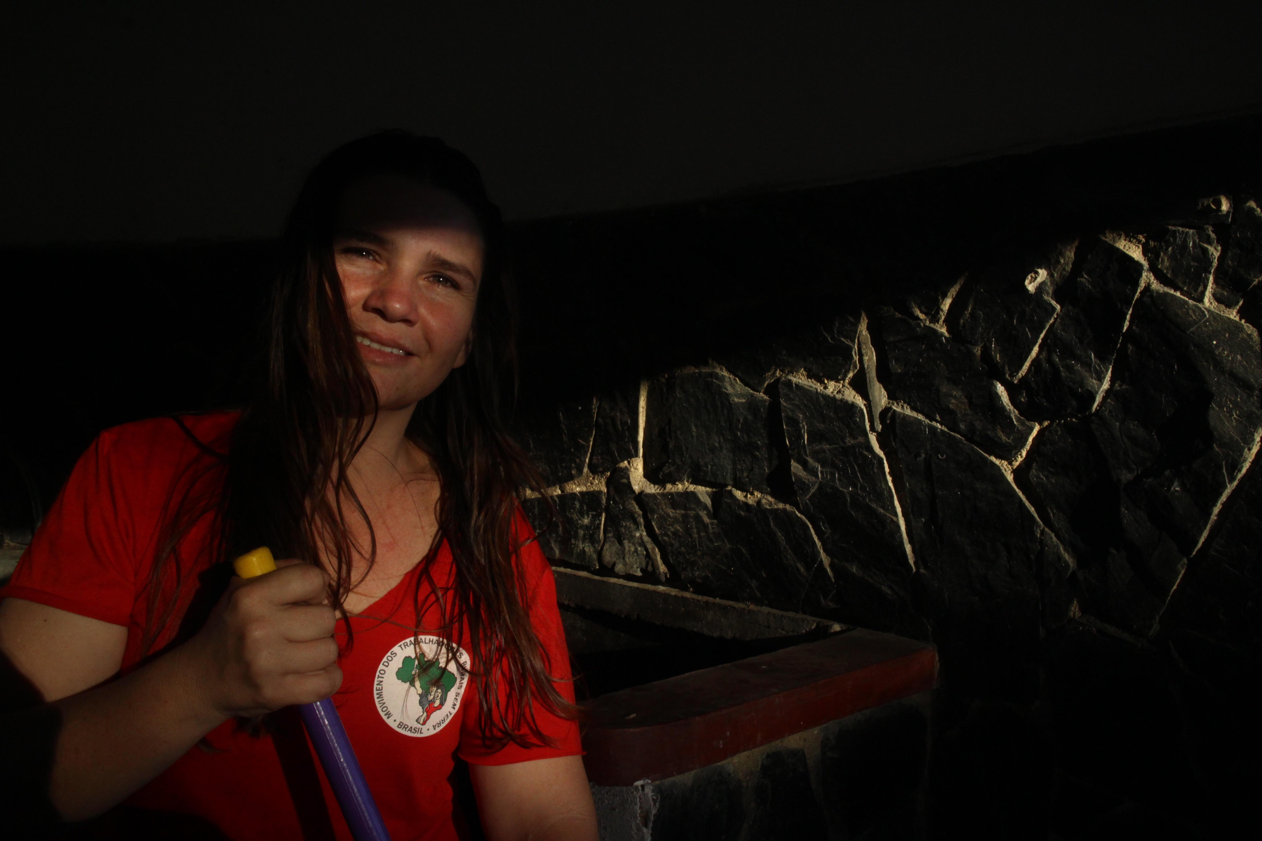Celia Rodrigues, brasileña del movimiento Sin Tierras