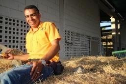 Douglas Quintero, campesino del frente Fabricio Ojeda en Bocono, Estado Trujillo