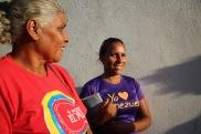 Patricia Leal, joven comunera y Flor, campesina de Barquisemeto