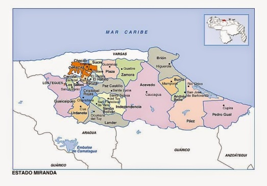mapa estado miranda