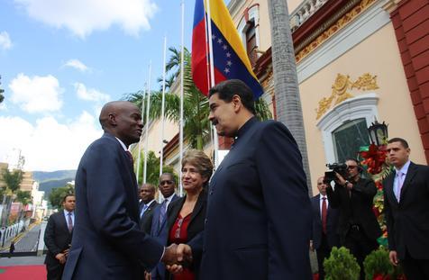 Haitian President Jovenel Moise visits Venezuela