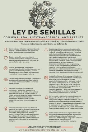 DETALLES LEY DE SEMILLA