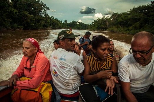 Andrés Antillano- en el río Cuyuni - Foto Emilio Guzmán