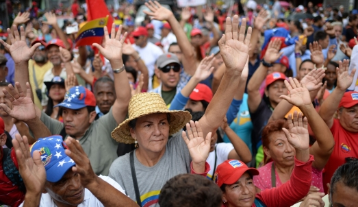 VENEZUELA-CRISIS-GOVERNMENT-SUPPORTERS